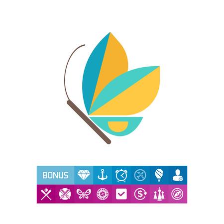 arthropod: Blue butterfly icon