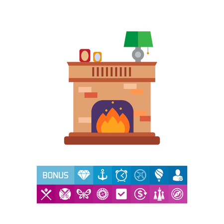 cosy: Brick fireplace icon