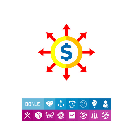 Budget Concept Icon with Dollar Sign