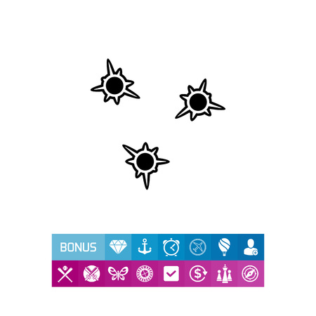 Bullet holes simple icon