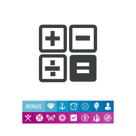 Calculator buttons Illustration