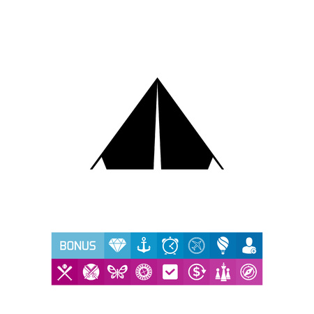 staying: Camp Tent Icon
