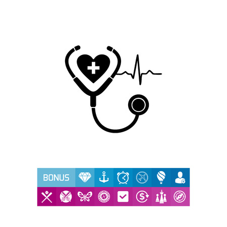 Cardiology simple icon Illustration