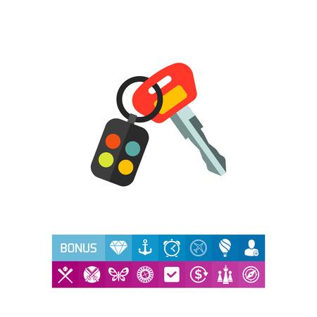 Car Key Icon Vectores