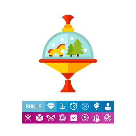 Carousel Humming Top-Symbol Illustration