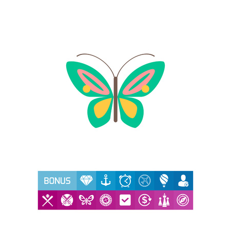 Cartoon butterfly icon