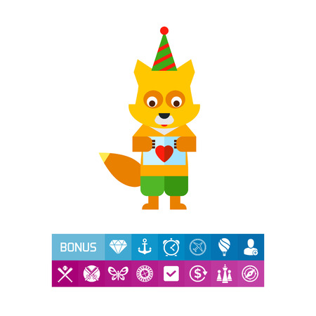 amusing: Cartoon Fox Icon