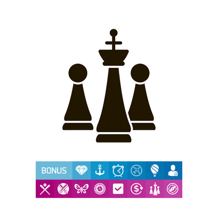 tactics: Chess king and pawns Illustration