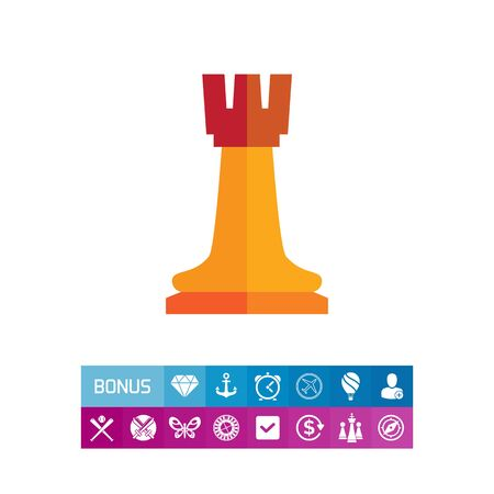 chess rook: Chess rook icon