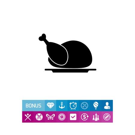 Chicken simple icon
