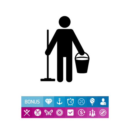 Cleaner Simple Icon. Vector illustration.
