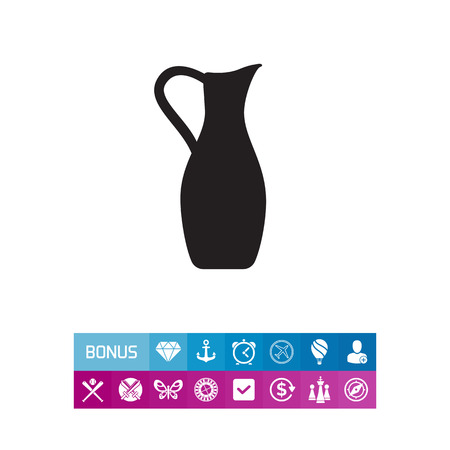 Clay jug icon. Vector illustration. Illustration