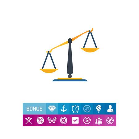 Classic balance icon. Vector illustration. Illustration