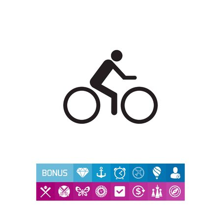 Cycler riding bicycle