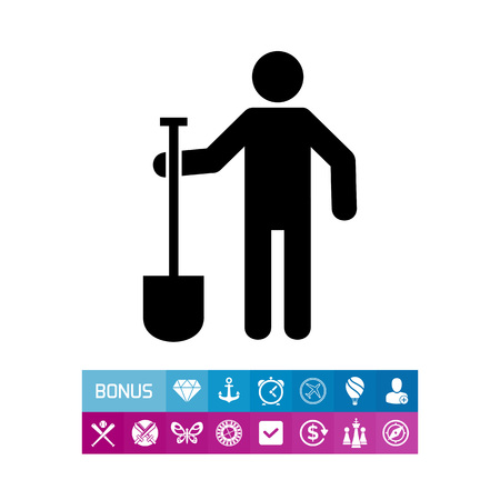 Digger Man with Spade Icon
