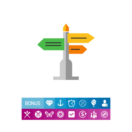 Direction sign icon Illustration