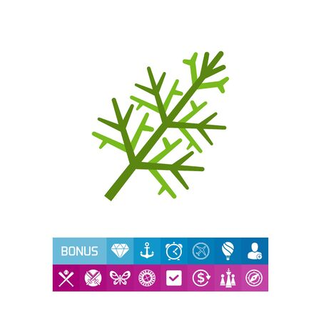Dill flat icon Stock Vector - 81739241