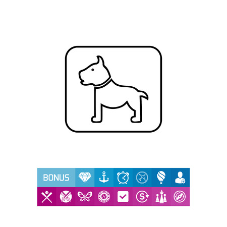 Dog sign icon Illustration