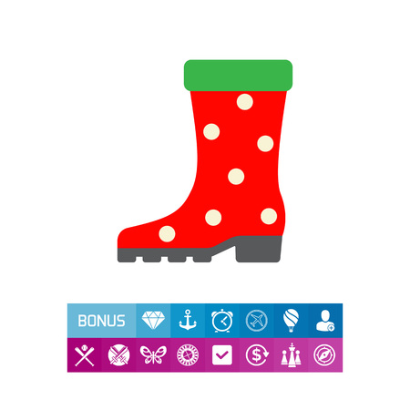 Dotted rubber boot icon Illustration