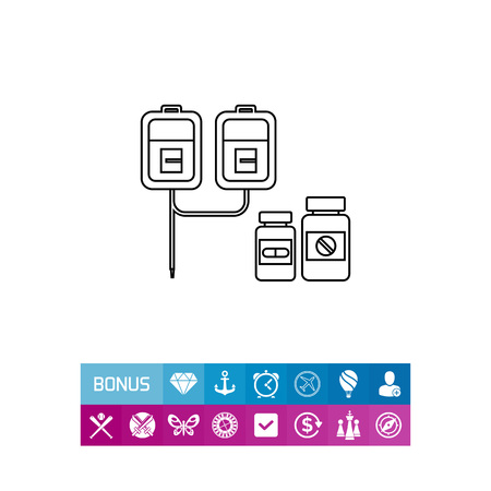 Drips and Pills Icon Illustration