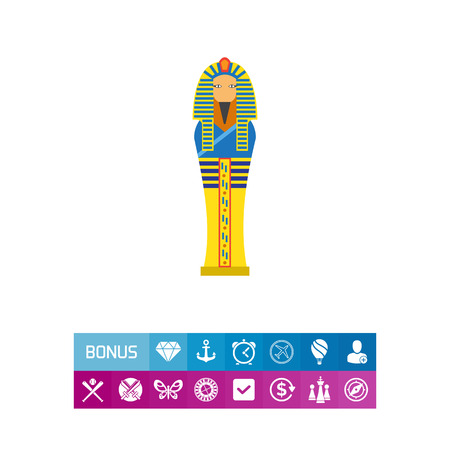Egyptian pharaoh sarcophagus icon Иллюстрация