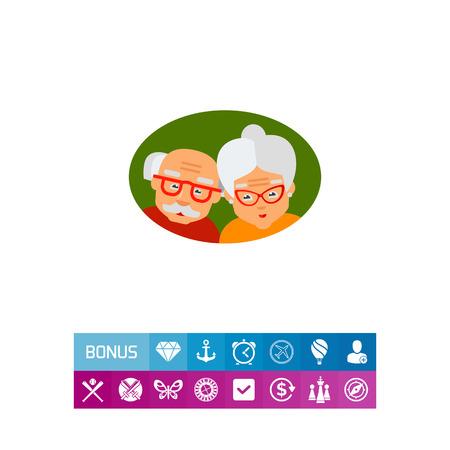 poor eyesight: Picture of elderly couple. Old age, grandparents, aging. Old age concept. Can be used for topics like old age, family, old people
