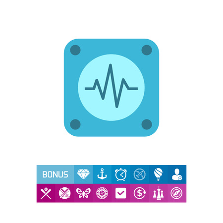 Icon of electrocardiogram