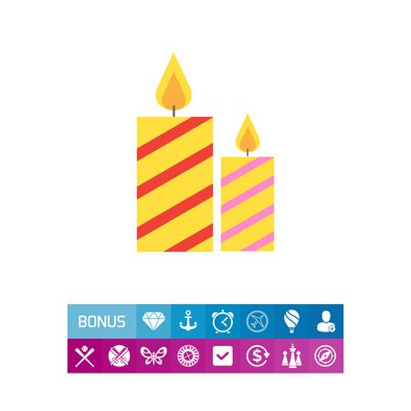 festive: Festive candles Illustration