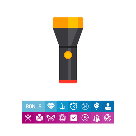 led: Flashlight icon Illustration
