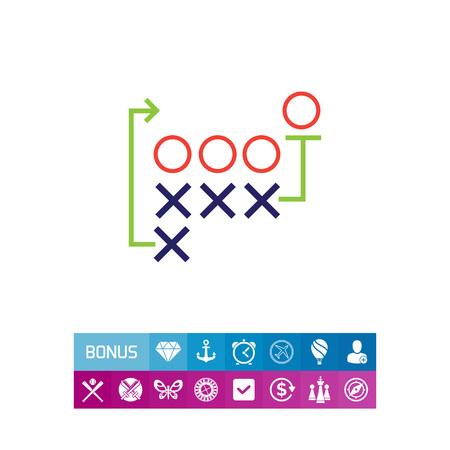 Icon of football tactics plan