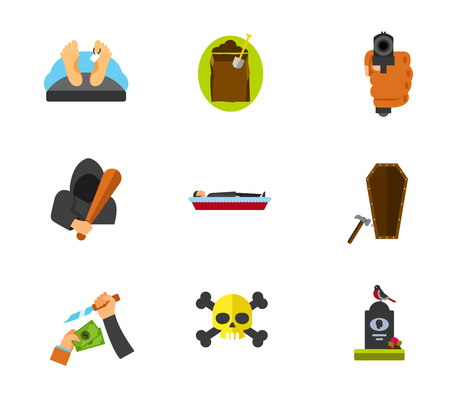 dug: Funeral services icon set