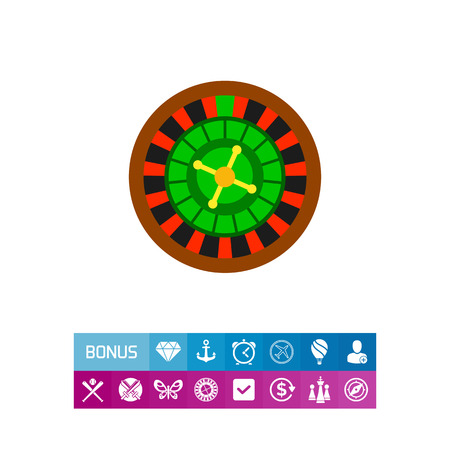 Casino roulette wheel. Club, luck, betting. Casino concept. Can be used for topics like gambling, marketing, nightlife.