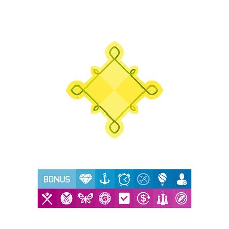 rhomb: Multicolored icon of Celtic knots of rhomb shape