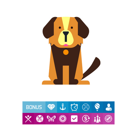 Cute cartoon dog icon