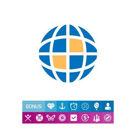 Icon of schematic Earth globe