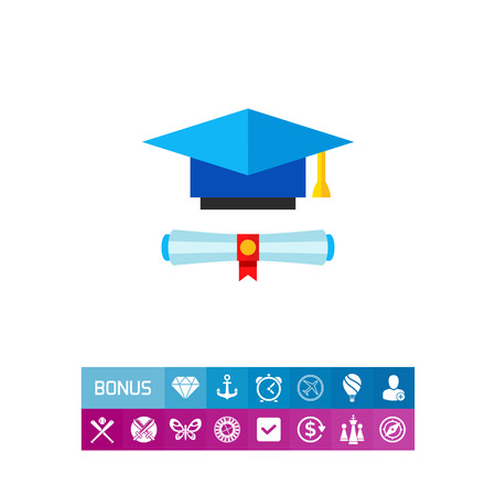 Education Concept Icon with Diploma