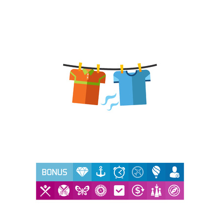 Drying Clothes Concept Icon