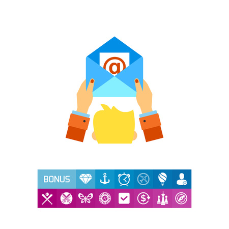 E-mail Marketing Concept Icon Illustration