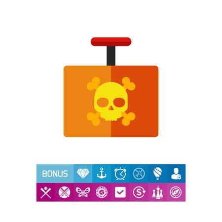 Explosive Detonator Vector Icon Illustration