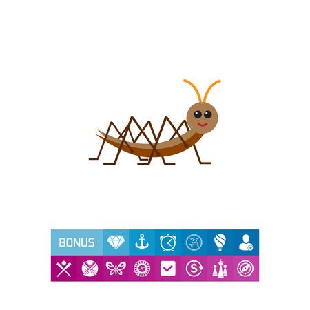 Cartoon locust icon 向量圖像