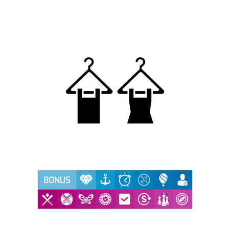 hangers: Clothes on hangers icon