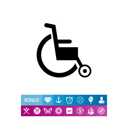 invalid: Empty Wheelchair Icon Illustration