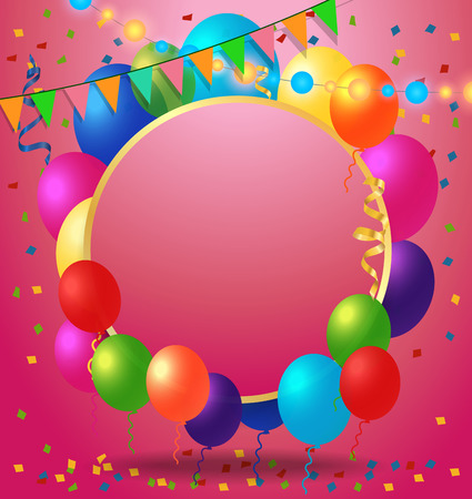 streamers: Greeting Card, Confetti and Balloons