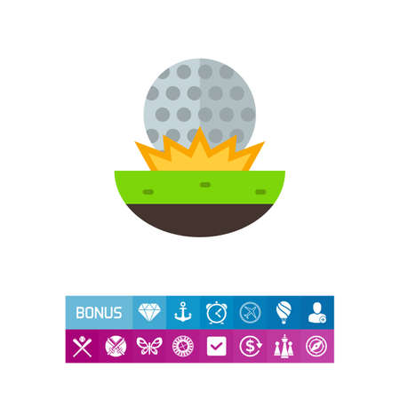 sports application: Golf Ball on Grass Icon
