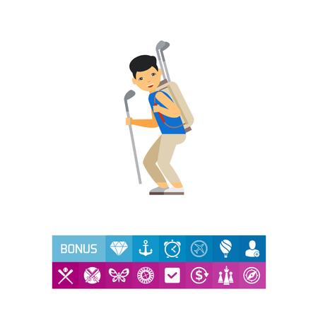 sports application: Golf Caddy Icon Illustration