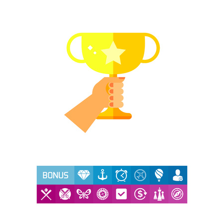 Golden Winner Cup Icon Ilustrace