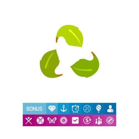 Green Recycle Sign as Ecology Concept Icon