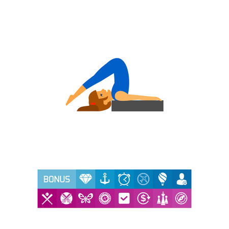 plow: Halasana Pose Icon Illustration
