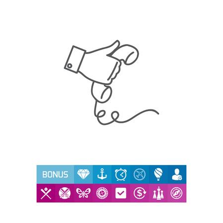 Hand holding telephone receiver Illusztráció