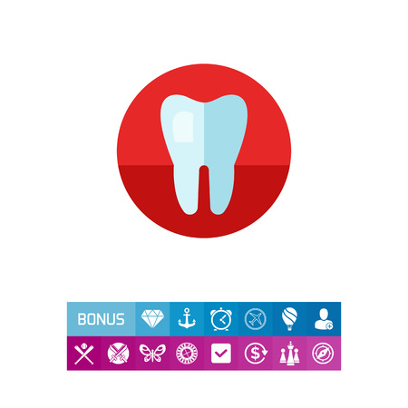Healthy Tooth Vector Icon Illustration
